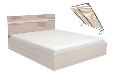 Кровать Ненси 140х200 с подъемным механизмом Горизонт какао глянец