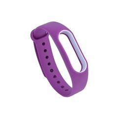 Силиконовый ремешок для Xiaomi Mi Band 4 (Фиолетовый)