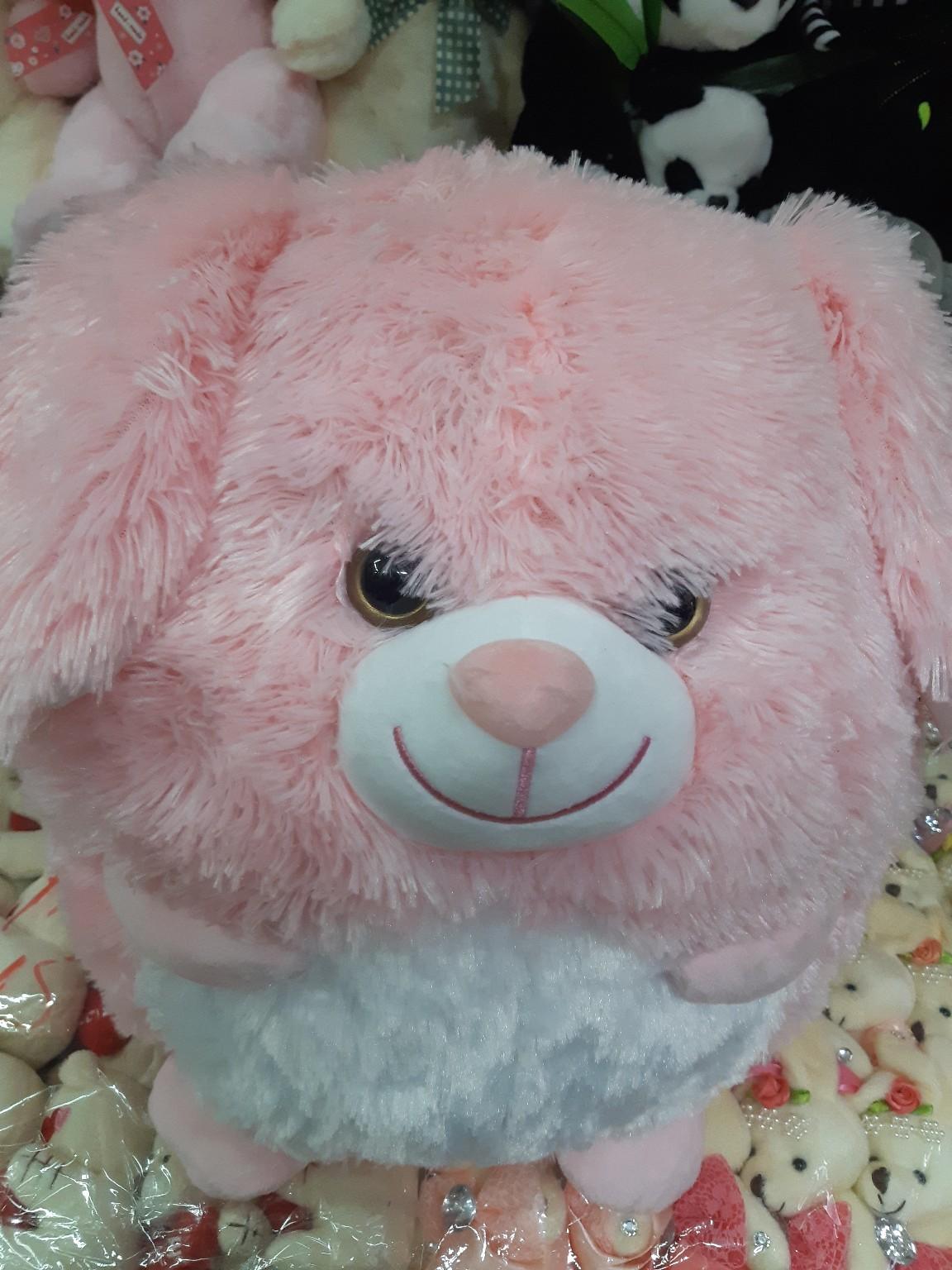 Круглый розовый заяц