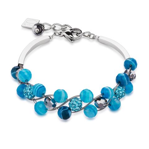 Браслет Coeur de Lion 4895/30-0600 цвет голубой