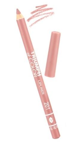 TF Карандаш для губ TRIUMPH of COLOR тон 201 пыльно-розовый  CW-212