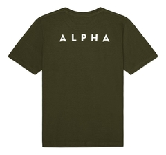 Футболка Alpha Industries Reflective Small Logo Olive (Зеленая)
