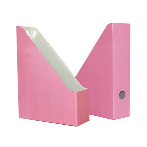 Вертикальный накопитель Attache Selection Flamingo картонный розовый ширина 75 мм (2 штуки в упаковке)