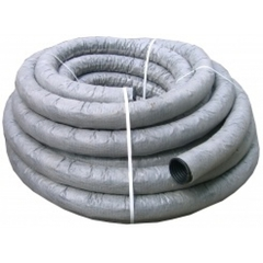 Труба дренажная гофрированная d=63мм с фильтром с перфорацией (бухта 50 п.м.)
