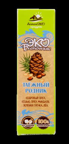 """Мини-батончик фруктово-ореховый """"Таёжный родник"""" без сахара, 25 г"""