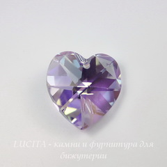 6228 Подвеска Сваровски Сердечко Violet AB (14,4х14 мм)