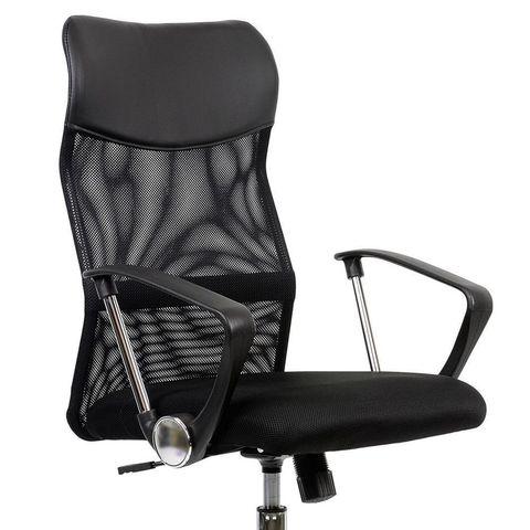 Кресло  для персонала черная ткань черная сетка