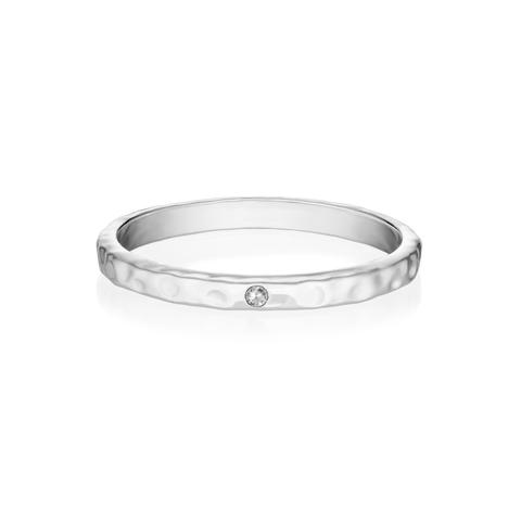 Кольцо GAMMA - Белый сапфир