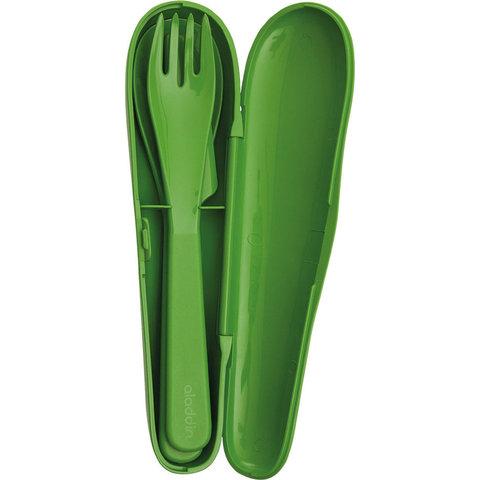 Набор из 3 столовых приборов в футляре Aladdin Papillon, зеленый