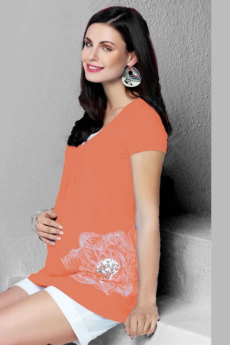 Блузка для беременных 01468 красный