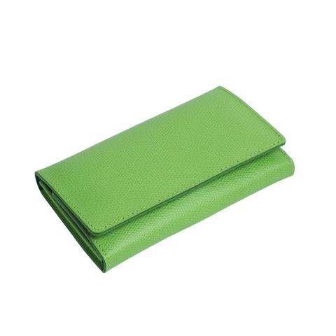 Маникюрный набор Erbe, 7 предметов, кожаный футляр, цвет зеленый
