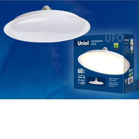 Лампа светодиодная UNIEL UFO U270 E27 60W 3000K 220V