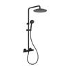 Душевая система с термостатом и тропическим душем для ванны BLAUTHERM 945401RP300NM черный - фото №1