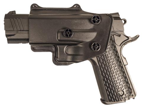 Страйкбольный пистолет Galaxy G.25+ COLT1911PD с глушителем металлический, пружинный