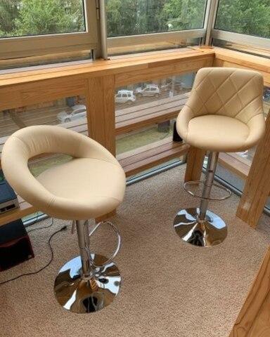 Сиденье для барного стула Mira/Мира, экокожа, бежевое (сидение)