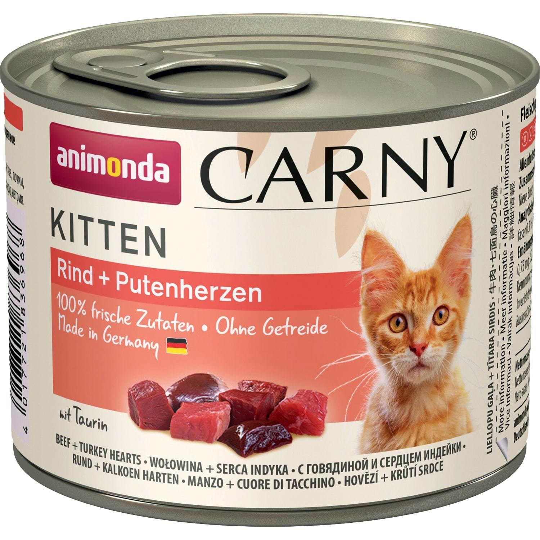 Animonda CARNY Kitten - Beef Turkey Hearts