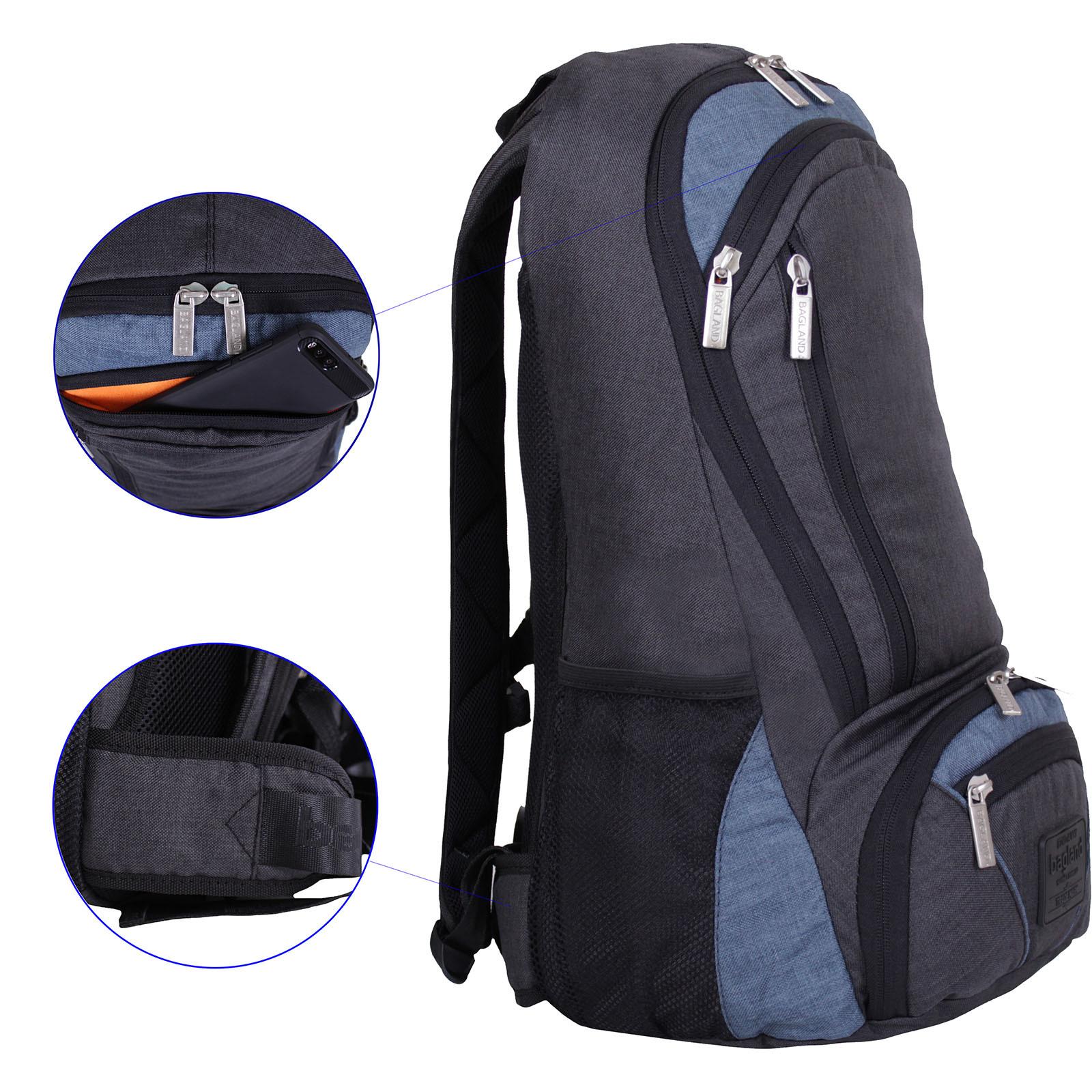 Рюкзак для ноутбука Bagland Granite 23 л. чорн./серый (0012069)