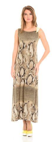 Фото длинное легкое платье с открытыми плечами из вискозы - Платье З080-492 (1)