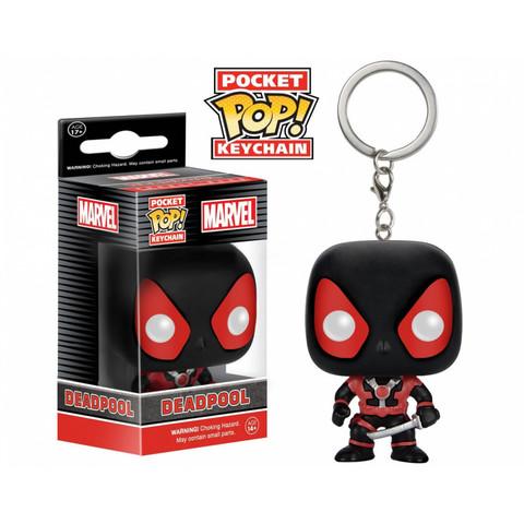 Брелок Дэдпул (Черный костюм) || POP! Keychain Deadpool