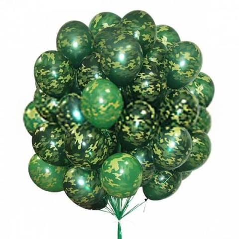 Воздушные шары камуфляж
