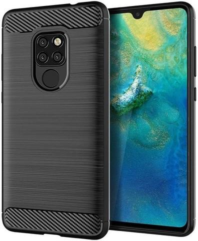 Чехол для Huawei Mate 20 цвет Black (черный), серия Carbon от Caseport