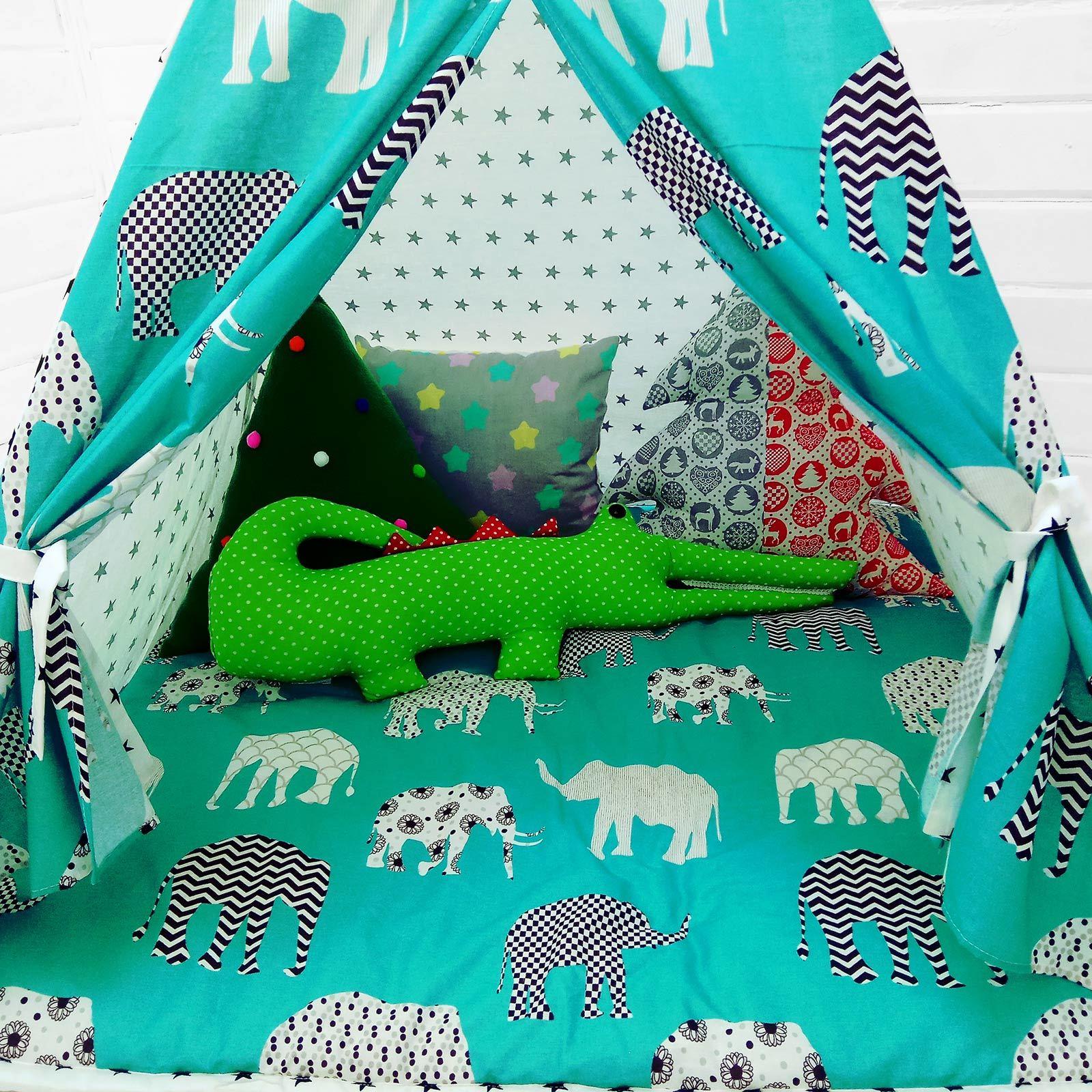 """Палатка ВигВам для детей """"Слонята"""""""