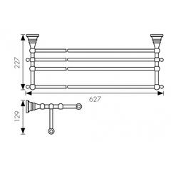 Полка с полотенцедержателем KAISER Arno BR KH-4209 схема