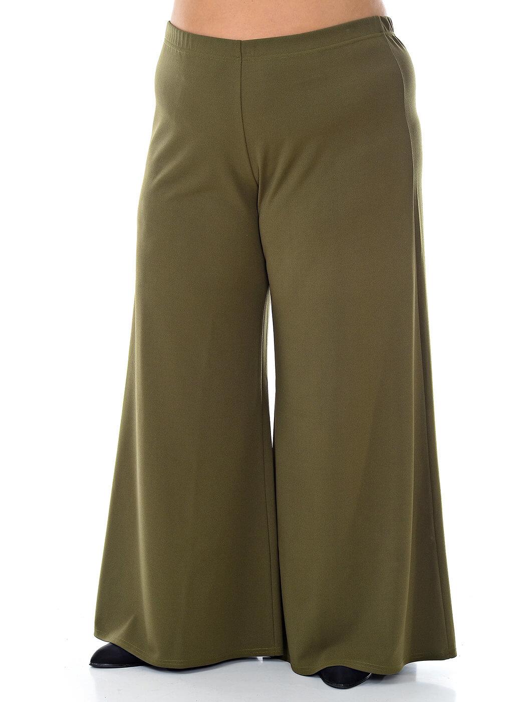 Широкие женские брюки 76 р хаки