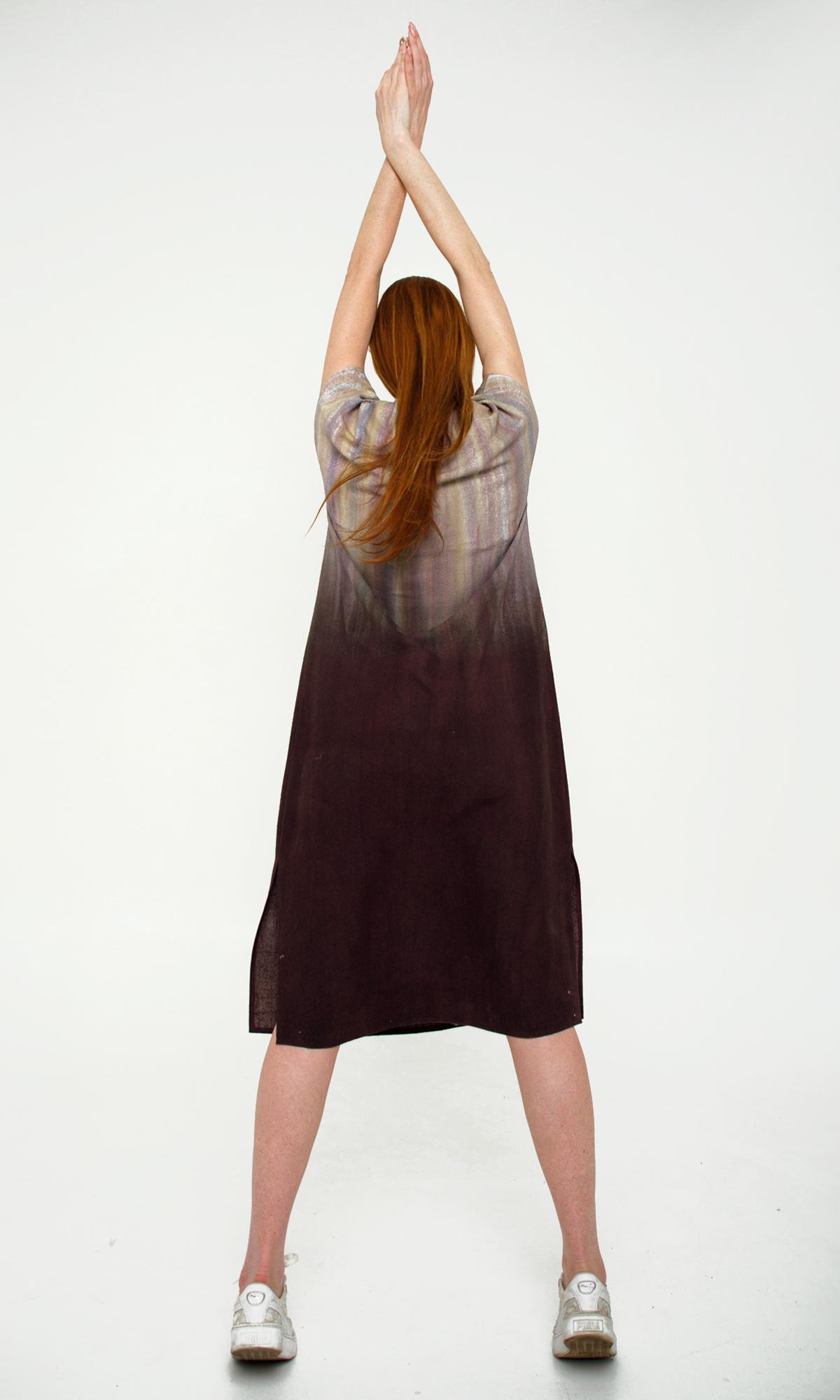 Летнее шелковое платье батик