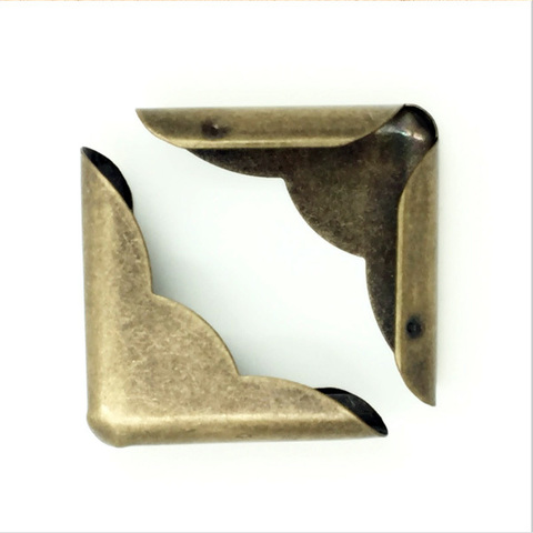 Уголок для блокнота 32х23 мм, бронза