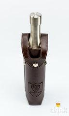 Фляга бутылка «Россия»,  в коричневом кожанном чехле, 800 мл, фото 6