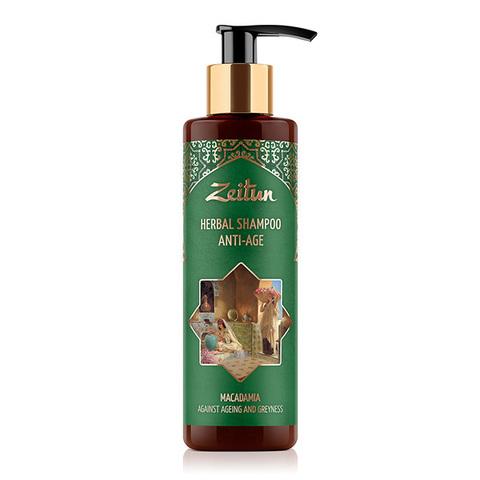 Шампунь-фито против седины и старения волос с макадамией Zeitun Herbal Shampoo Anti-Age 200мл