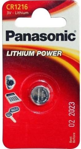 Батарейки литиевые Panasonic CR 1216 BL1