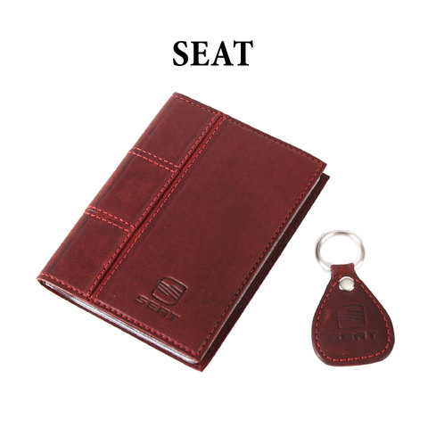 Обложка для водительского удостоверения с брелком «SEAT»