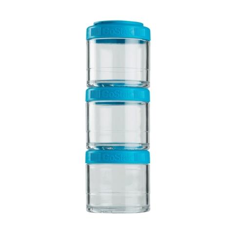 BlenderBottle GoStak Starter, 3 Контейнера по 100мл для перекусов и еды безопасный пищевой пластик Тритан