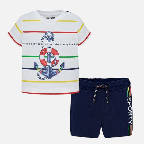 Комплект Mayoral футболка и шорты с якорем
