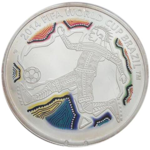 50 центов. Футбол Чемпионат мира по футболу Бразилия в 2014 г.. Австралия. 2012 год