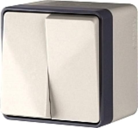 Werkel Выключатель W5020101 (WL15-03-03) белый (2-кл с подсв.)