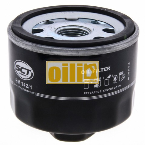 Фильтр масляный SCT SM142/1 (Dacia, Nissan, Opel, Renault)