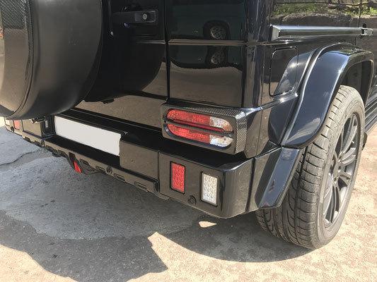 Карбоновый задний бампер  для Mercedes G-class