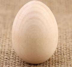 Яйцо деревянное, заготовка для творчества, 1 шт.