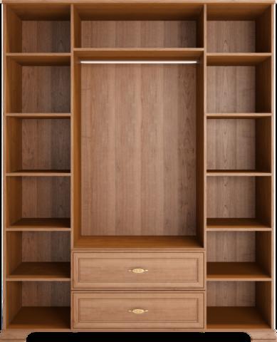 Шкаф для одежды четырехдверный с зеркалом Венеция 2 с ящиками Ижмебель клен торонто