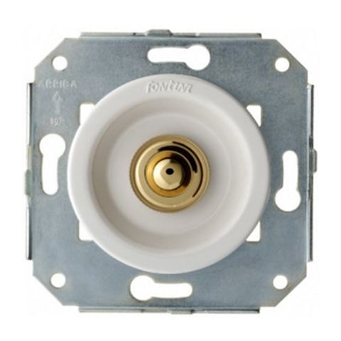 Выключатель/кнопка нажимной 10А 250В~. Цвет Хром/белый. Fontini Venezia(Фонтини Венезия). 35310252