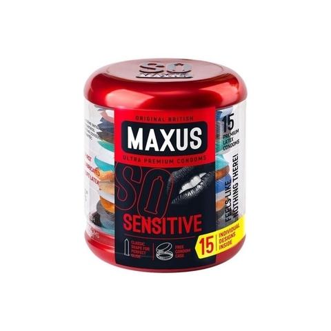 MAXUS Sensitive №15 Презервативы в железном кейсе ультратонкие