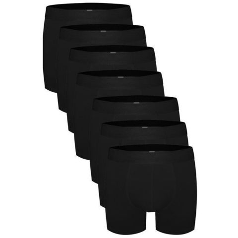 Трусы мужские боксеры набор 7в1 черные DARKZONE DZN7777SY