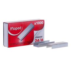 Скобы для степлера №24/6 Maped оцинкованные 1000 шт в уп
