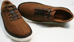 Модные мужские туфли под джинсы Vitto Men Shoes 1830 Brown White