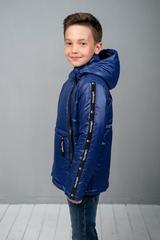 Куртка-анорак для мальчика синий