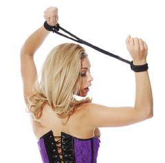 Черные верёвочные оковы на руки или ноги Silk Rope Love Cuffs