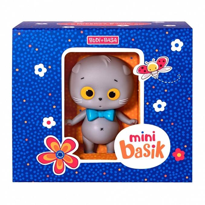 Мини кот Басик игрушка + 5 предметов одежды